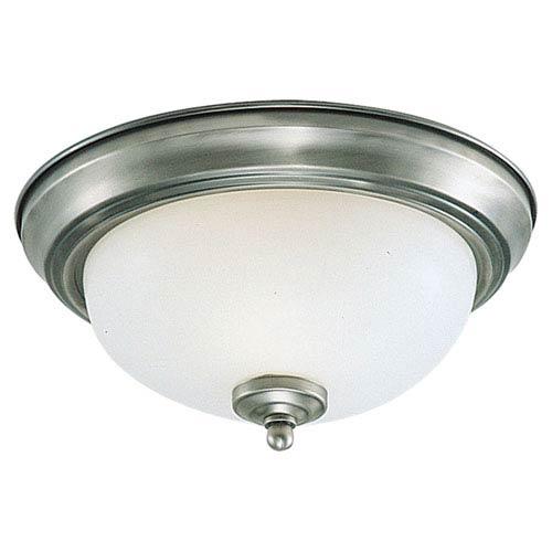 Partridge Brushed Nickel Flush Mount Ceiling Light