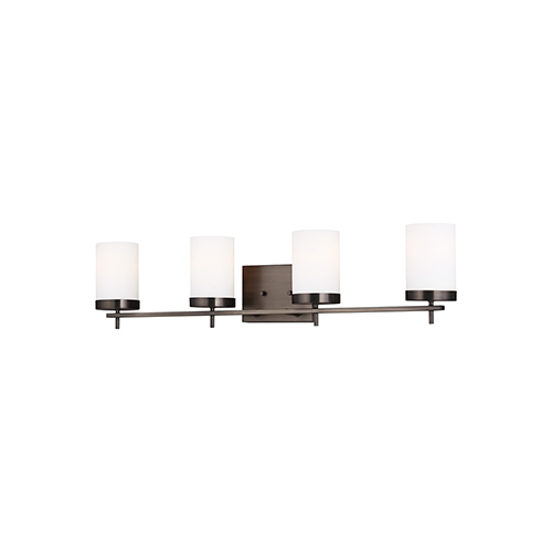 Loring Brushed Oil Rubbed Bronze Four-Light Wall Sconce