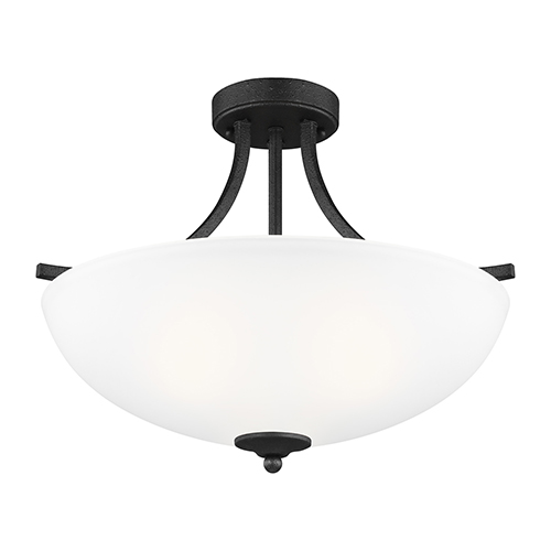 James Blacksmith 19-Inch Three-Light Semi Flush Mount