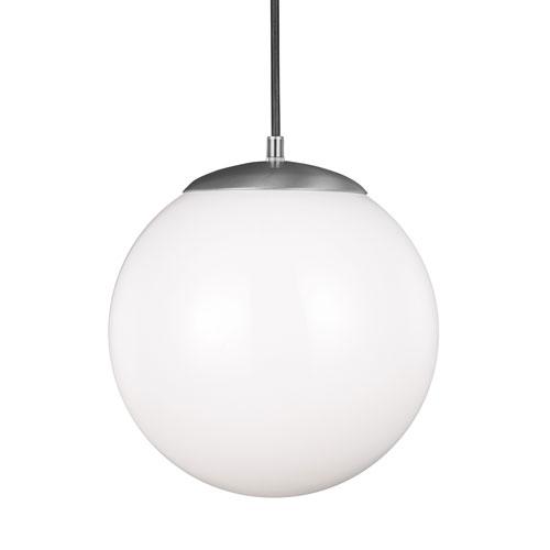 Cora Globe Satin Aluminium Energy Star 12-Inch LED Pendant