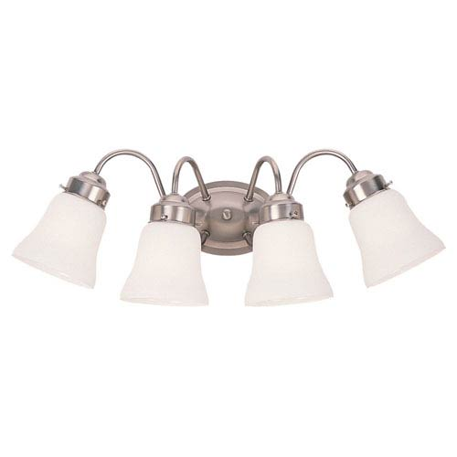 Partridge Brushed Nickel Four-Light Bath Fixture