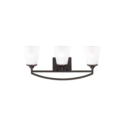 Linden Burnt Sienna Three-Light Bath Fixture