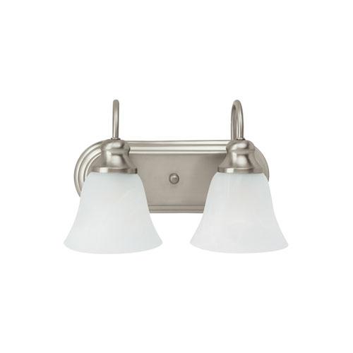 Webster Brushed Nickel Energy Star Two-Light LED Bath Vanity