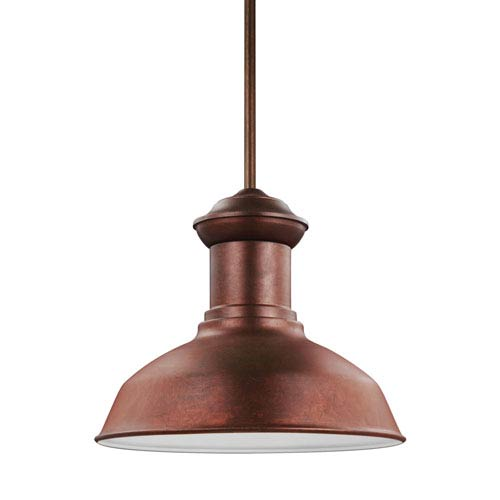 Lex Weathered Copper One-Light Outdoor Pendant
