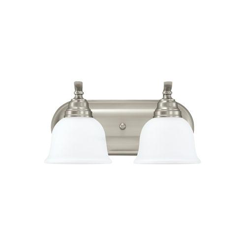 Aster Brushed Nickel Energy Star Two-Light LED Bath Vanity
