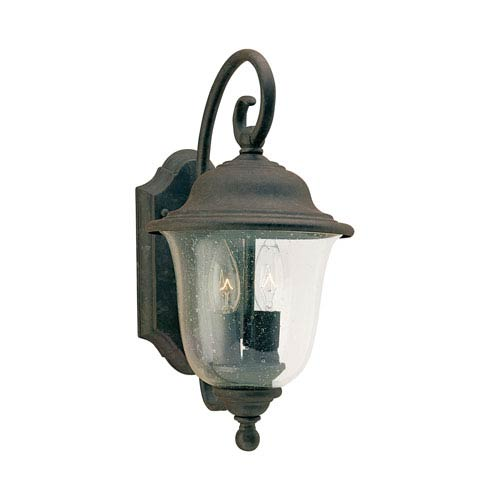 Lincoln Oxidized Bronze 7.5-Inch Energy Star Two-Light Outdoor Wall Lantern