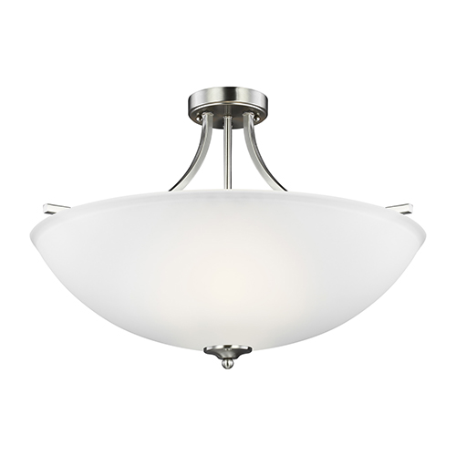 James Brushed Nickel Energy Star 25-Inch Four-Light Semi Flush Mount