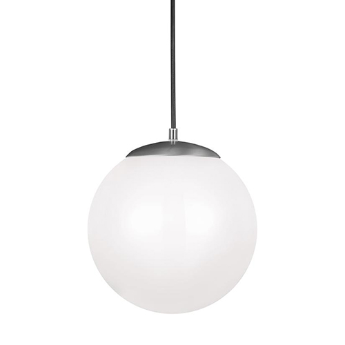 Cora Globe Satin Aluminium 12-Inch LED Pendant