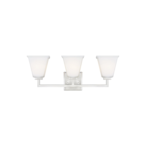 Aster Brushed Nickel Three-Light Energy Star Wall Sconce