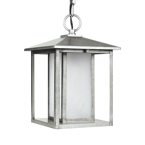 Pax Weathered Pewter Nine-Inch LED Outdoor Pendant