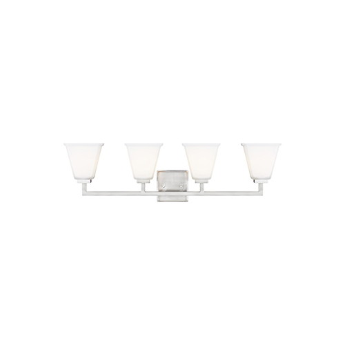 Aster Brushed Nickel Four-Light Wall Sconce