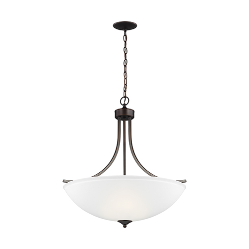 James Burnt Sienna Energy Star 25-Inch Four-Light Pendant