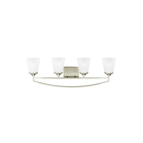 Linden Brushed Nickel Energy Star Four-Light LED Bath Vanity
