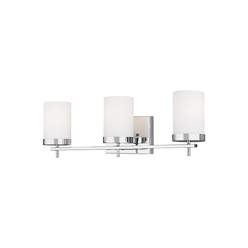 Loring Chrome Three-Light Energy Star Wall Sconce