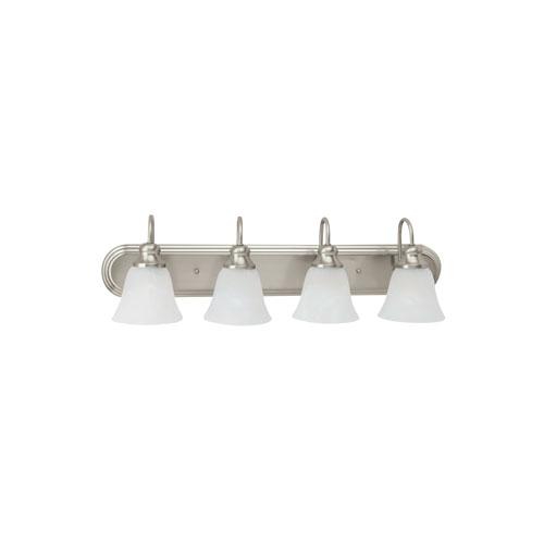 Webster Brushed Nickel Energy Star Four-Light LED Bath Vanity