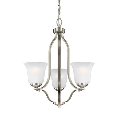 James Brushed Nickel 19.5-Inch Three-Light Chandelier
