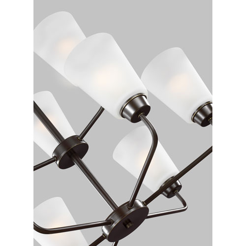Whitter Bronze Energy Star Nine-Light LED Chandelier