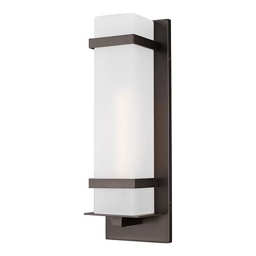 Fredrick Antique Bronze One-Light Outdoor Wall Lantern