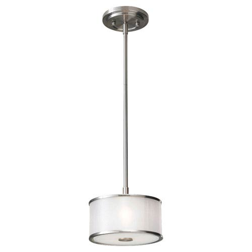 Essex Brushed Steel One-Light Mini Pendant