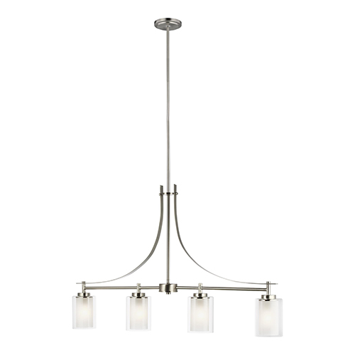 Uptown Brushed Nickel Four-Light Energy Star Mini Pendant