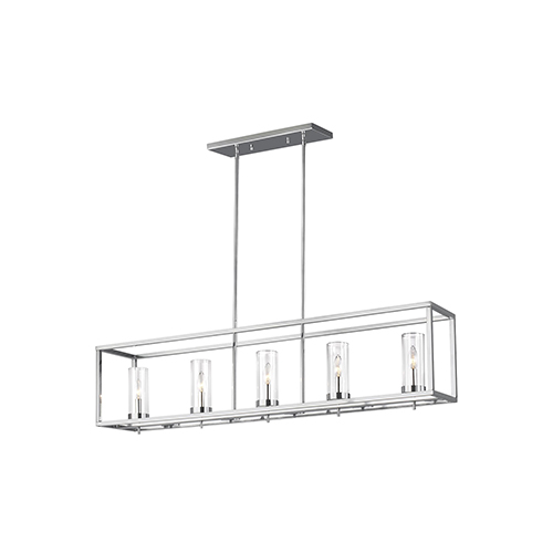 Loring Chrome Five-Light Energy Star Mini Pendant