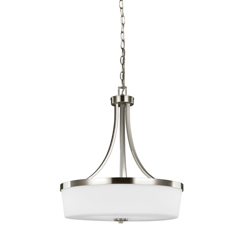 Artemis Brushed Nickel Energy Star Three-Light LED Pendant