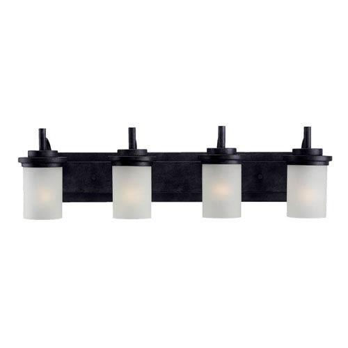 York Four-Light Blacksmith Bath Light