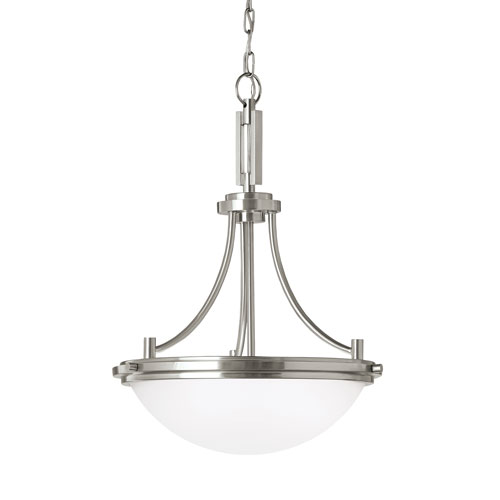 York Brushed Nickel Energy Star Three-Light LED Pendant