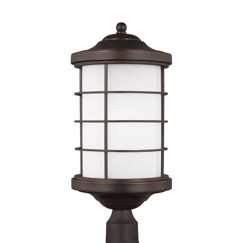 Lex Antique Bronze Energy Star LED Outdoor Post Lantern