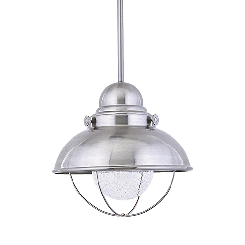 Knox Brushed Stainless 17-Inch LED Outdoor Pendant