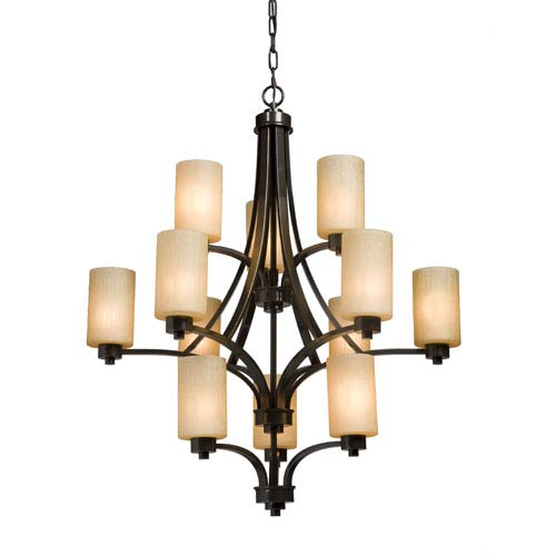 Oxford Oil Rubbed Bronze 38-Inch 12-Light Chandelier