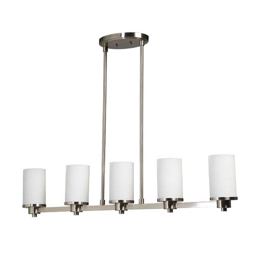 Oxford Polished Nickel 38-Inch Five-Light Pendant
