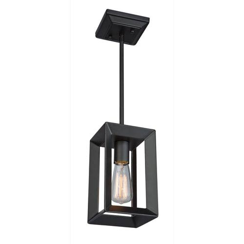 Lex Matte Black One-Light Mini Pendant