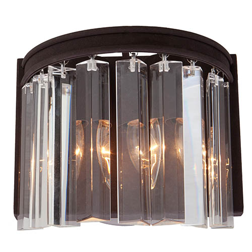 Amara Brown Two-Light Wall Sconce