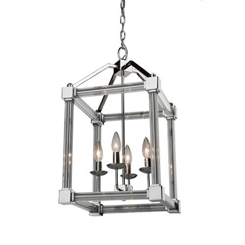 Felix Chrome Four-Light Chandelier