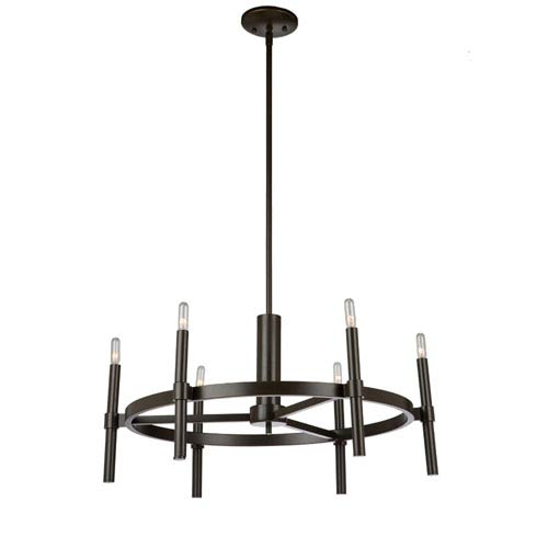 Fredrick Oil Rubbed Bronze Six-Light Chandelier