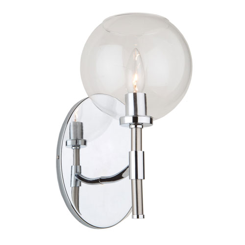 York Chrome and Brushed Nickel One-Light Wall Sconce