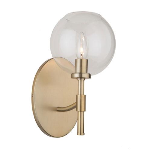 York Satin Brass One-Light Wall Sconce