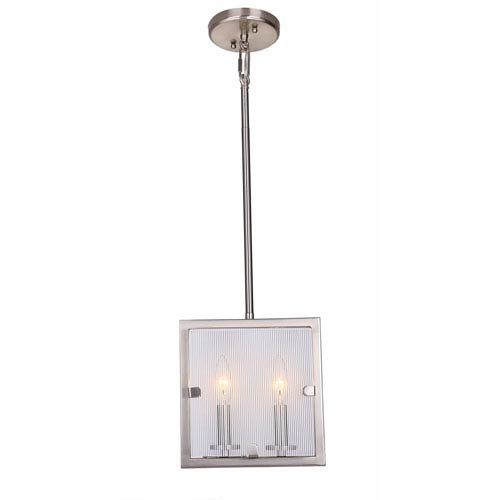 Irving Satin Nickel Two-Light Mini Pendant