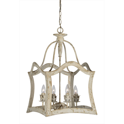 Hana Cottage White Four-Light Pendant
