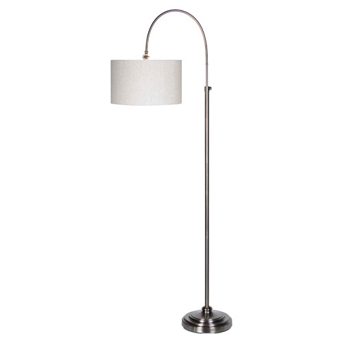 Isabella Pewter Plated One-Light Floor Lamp