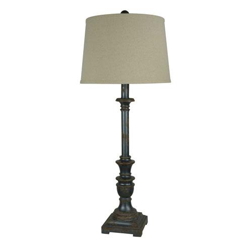 Iris Aged Metal One-Light Buffet Lamp