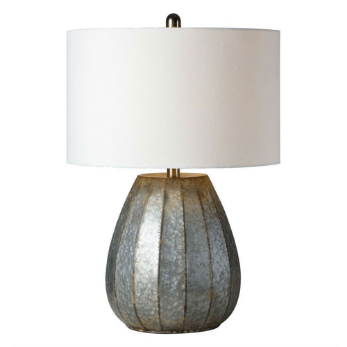 Iris Washed Galvanize One-Light Table Lamp
