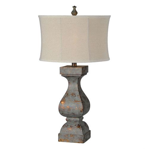 Hazel Dusky Blue and Copper One-Light Buffet Lamp