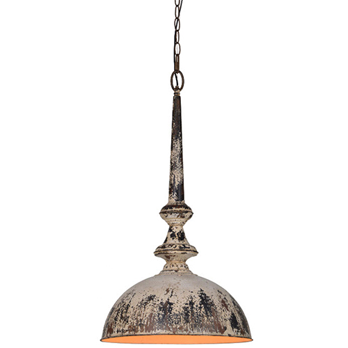 Iris Cream and Dusky Brown 28-Inch One-Light Pendant