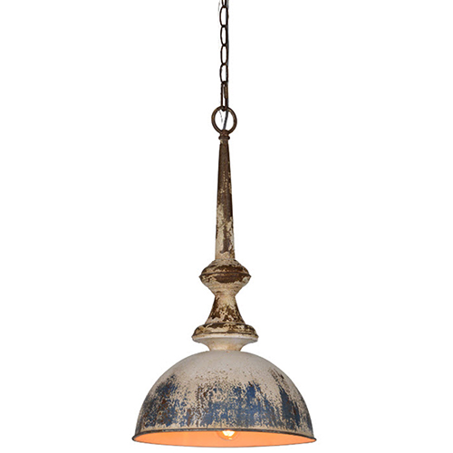 Iris Galvanized 23-Inch One-Light Pendant