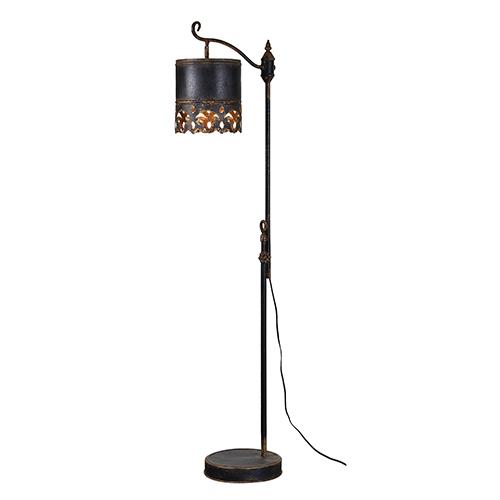 Iris Rustic Black One-Light Floor Lamp