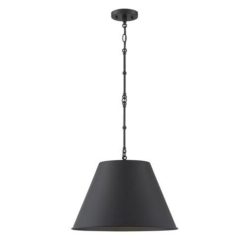 Ash Matte Black 12-Inch One-Light Pendant