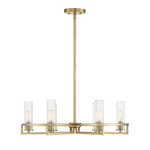 Pax Polished Brass 26-Inch Six-Light Chandelier