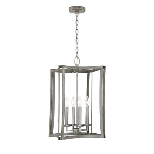 Anita Pewter and Greywood 13-Inch Four-Light Pendant